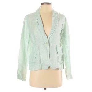 Eileen Fisher Linen Mint Green Blazer Small Petite